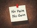 No pain no gain Royalty Free Stock Photo