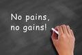 No pains, no gains! Royalty Free Stock Photo