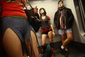 No pants subway ride in bucharest romania january people wearing participate the Stock Photography