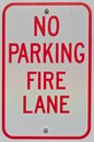 No Parking Fire Lane Sign Royalty Free Stock Photography