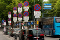 No parking - road signs on the streets of vienna Royalty Free Stock Photo
