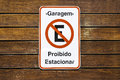 No parking sign in Brazil Royalty Free Stock Photo