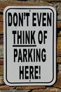 No Parking Sign With A Funny T...
