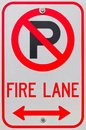 No Parking Symbol Fire Lane Sign Stock Images