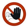 no pass warning sign Royalty Free Stock Photo