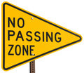 No Passing Zone Stock Image