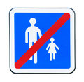 No pedestrian traffic sign Royalty Free Stock Photography