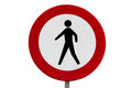 No pedestrians road sign Royalty Free Stock Photo