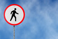 No pedestrians traffic sign illustration Royalty Free Stock Photos