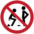 No pee and relieve sign illustration of Stock Photo