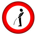 No pee sign (AI format available)