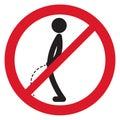 No peeing sign symbol