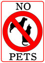 No Pets Sign Royalty Free Stock Photography