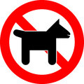 No pets vector illustration of allowed Royalty Free Stock Photos