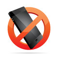 No phone allowed vector illustration of forbidden sign blocking a Royalty Free Stock Photo