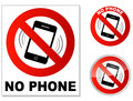 No phone sign on white background Royalty Free Stock Photos
