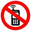 No phone sign Royalty Free Stock Photo