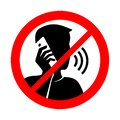 No phone talking prohibition sign with Royalty Free Stock Photo