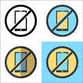 No Phone vector design illustration