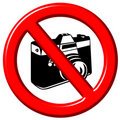 No photographs 3d sign Royalty Free Stock Image