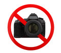 No photography sign isolated on white background d render Stock Photo