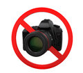 No photography sign isolated on white background d render Stock Images
