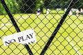 No play tennis sport club sign Royalty Free Stock Images
