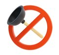 No plunger d illustrations on a white background Stock Photo