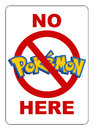 No Pokemon here sign Royalty Free Stock Photo