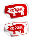 No pork stickers. Stock Images