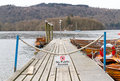 No public access on pier at windermere england Royalty Free Stock Image