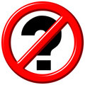 No questions 3d sign Stock Images