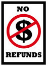 No refunds sign Royalty Free Stock Photo