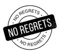 No Regrets rubber stamp Royalty Free Stock Photo