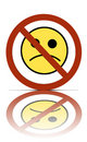 No sad allowed sign Stock Photo