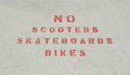 No Scooters
