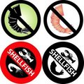 No Shellfish Sign Stock Photography