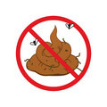No shit cartoon comical sign Royalty Free Stock Images