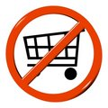 No shopping cart Stock Images