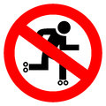 No skater sign Royalty Free Stock Images