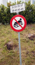 No sledging sign in norway Royalty Free Stock Photos