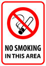 No smoking 5  (+ vector) Royalty Free Stock Photos