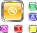 No Smoking Button Stock Image