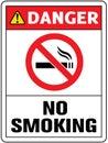 No smoking cigarette sign.