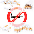 No smoking collage Royalty Free Stock Photos