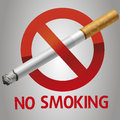 No smoking icon vector warning smokers about what is prohibited Royalty Free Stock Photo