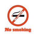 No smoking icon on white background Royalty Free Stock Photography