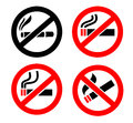 No smoking icons this is file of eps format Stock Photos