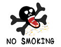No smoking illustration with cigarette and skeleton Stock Images