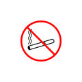 No smoking line icon, prohibition sign, forbidde